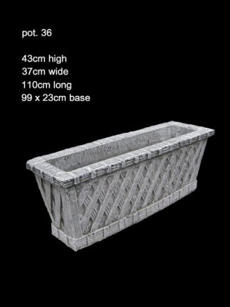 concrete planter trough 036