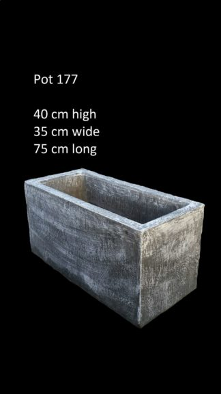 concrete trough pot 177