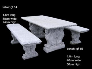 cement table and bench set gf 14/15