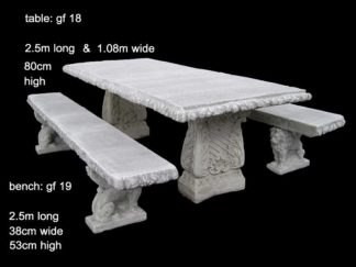 cement table and bench set gf 018/019