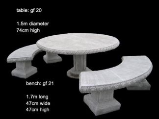 cement table and bench set gf 020/021