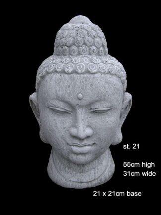 concrete buddha head statue 21