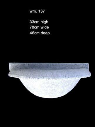 concrete wall bowl 137 paolo