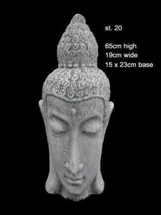 concrete buddha head statue 20