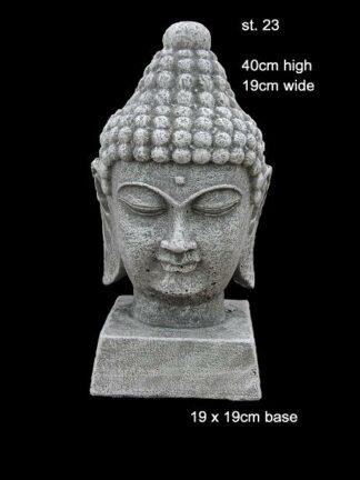 concrett statue buddha head 23